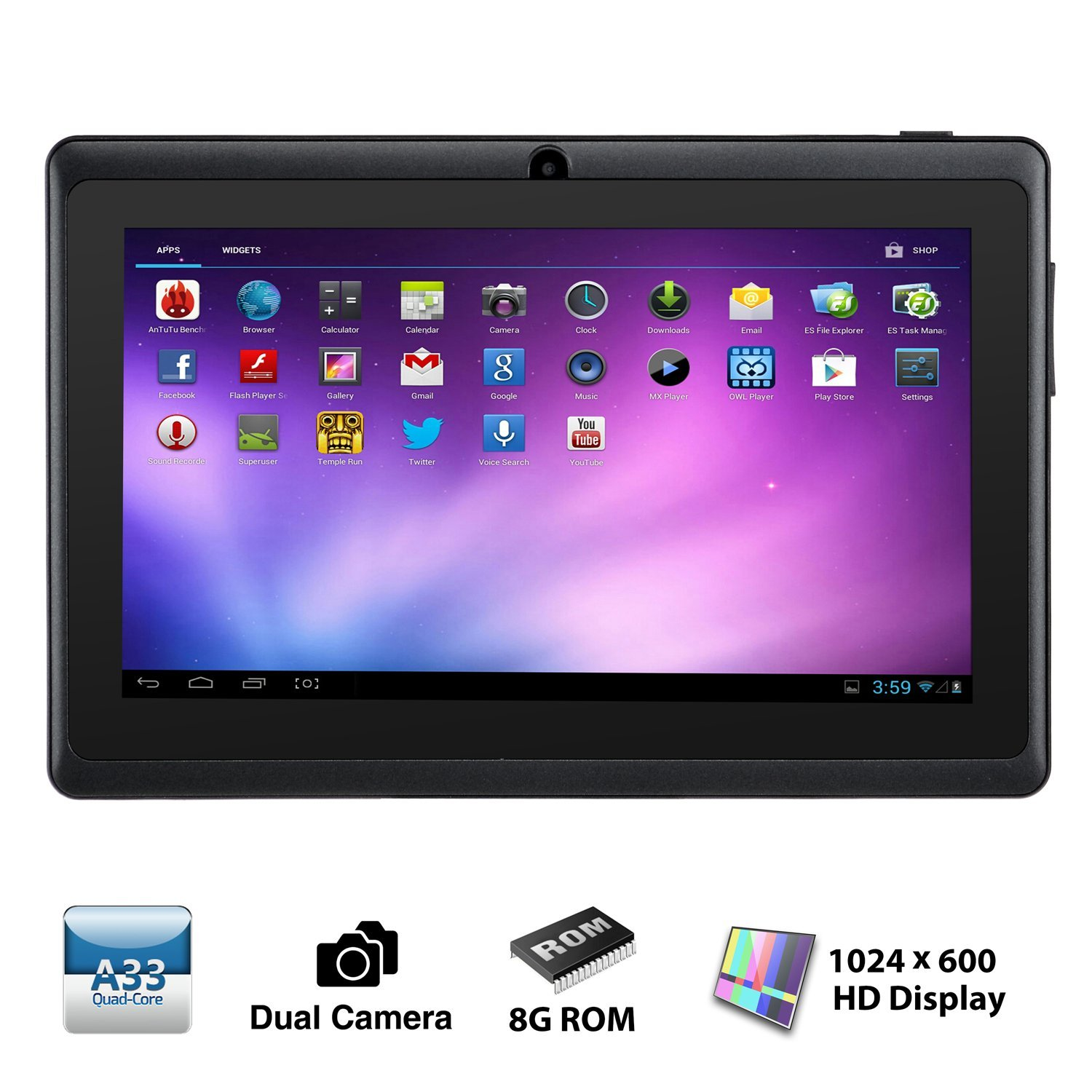 android tablet reviews alldaymall a88x 7 inch tablet pc android 4 4 21960