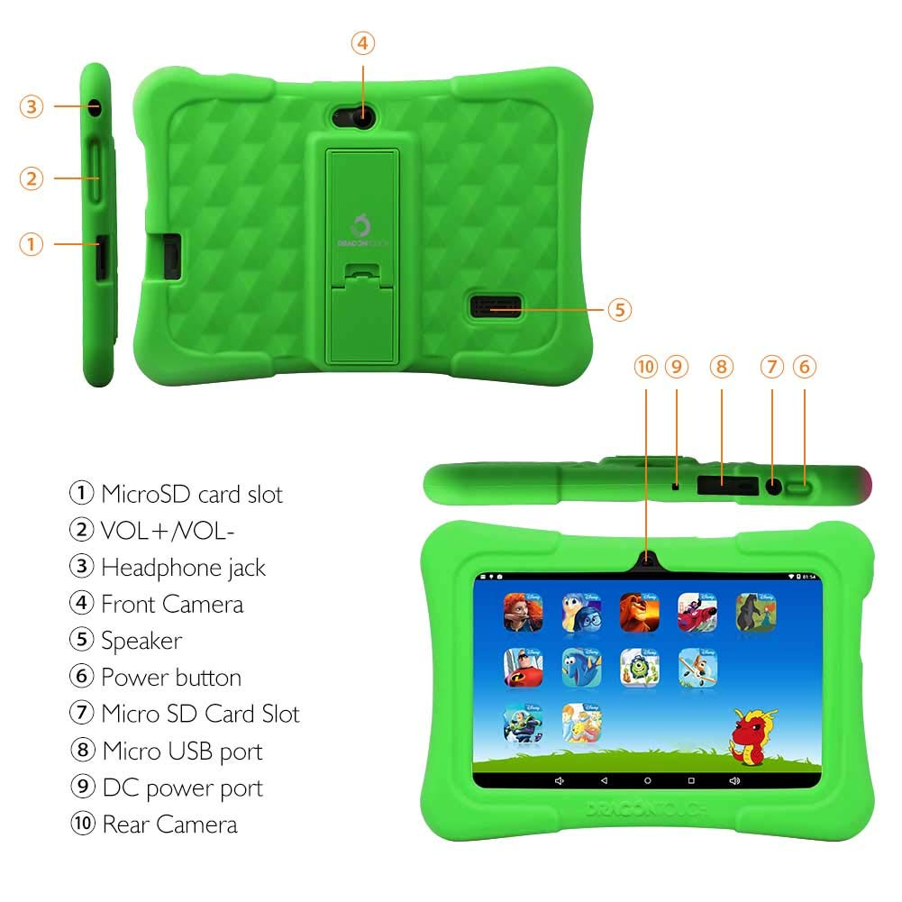 2019 Dragon Touch Y88X Plus Kids Tablet